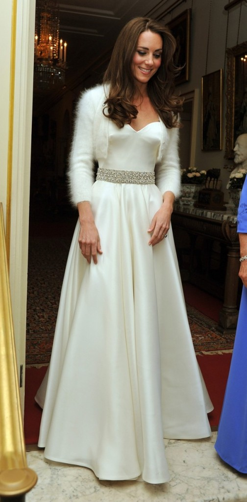 Kate was gorgeous in her wedding reception gown