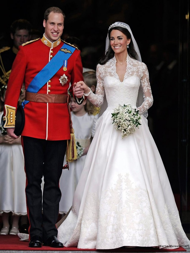 Catherine looked breathtaking in her wedding dress